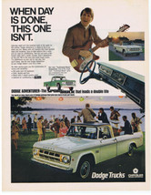1968 DODGE ADVENTURER TRUCK Print Ad Party Lake Musicians  - $9.99