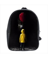 School bag it pennywise clown creepy halloween bookbag  3 sizes - $38.00+