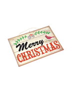 new Rustic Christmas Decor Glitter Sign MERRY CHRISTMAS Holiday Wall Dec... - $9.80