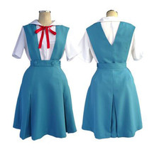 Evangelion EVA Ayanami Rei Uniform Cosplay Costume Dress Outfit - $69.99+