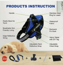 PAWFULL No Pull Reflective Dog Harness Kit with DIY tag. Medium. Black. image 4