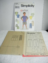 Simplicity 7990 Sewing Pattern~childs pants shorts knit top uncut Sz AA ... - $5.75