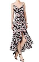 Betsey Johnson Women's Floral High Low Maxi Dress Black 0 - $69.29
