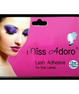 MISS ADORO LASH ADHESIVE FOR STRIP LASHES CLEAR Eyelash Glue 7g MADE IN USA - $1.97