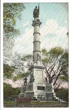 Vintage Postcard Boston MA Mass Soldiers Monument on the Common UDB Earl... - $4.95