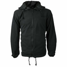 Men's Reversible Water Resistant Fleece Lined Hooded Rain Jacket w/ Defect  2XL image 4