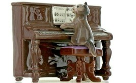 Hagen Renaker Miniature Cat Playing Piano Keyboard Ceramic Figurine