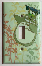 Totoro green Light Switch Outlet Toggle Rocker Wall Cover Plate Home decor