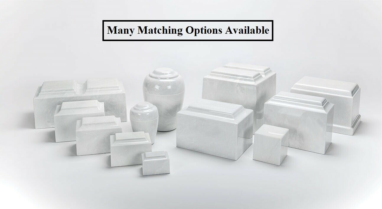 Classic Marble Wedgewood Adult Cremation Urn, 325 Cubic Inches, TSA Approved