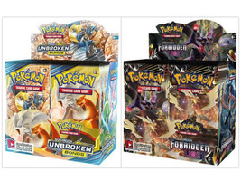 Pokemon TCG Sun & Moon Unbroken Bonds + Forbidden Light Booster Box Bundle - $224.99
