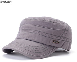 [SMOLDER] Popular New Arrival Men's Flat Top Hats Casual Fitted Military... - $23.57+