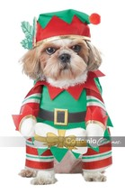 California Costumes Elf Pup Santa Claus Dog Christmas Xmas Holiday Costume - £16.12 GBP