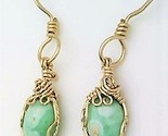 Variscite gold wire wrap earrings 8 thumb155 crop