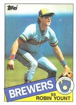 1985 Topps #340 Robin Yount > Milwaukee Brewers - $0.99