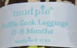 Mudpie Ruffle Socks Leggings Zebra Stripes Zero To Six Months image 4