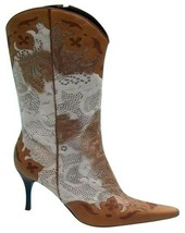 Donald Pliner Couture Hair Calf Leather Boot Shoe New 11 Laser Cut Lace $850 NIB - $382.50