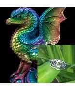 Male Rainbow Dragon Ma.. Sz 7  Lotus ring budget offer haunted no djinn - $49.00