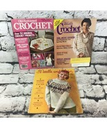 Vintage Crochet Needlework Pattern Magazines Lot Of 3 DIY Project Guides - $9.89