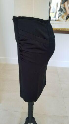ARMANI COLLEZIONI Black Viscose Like Satin Panels Dress Skirt  Size 8 image 5