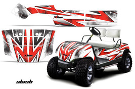 Yamaha Golf Cart Graphic Kit Wrap Parts AMR Racing Decal 1995-2006 SLASH RED - $299.95