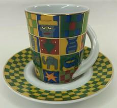Rosenthal Sammeltasse CUPOLA Kitty Kahane Espresso Cup Saucer - $28.70