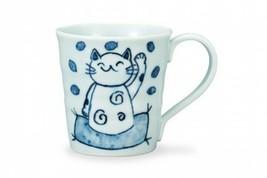 Kutani yaki ware Japanese Mug Coffee Tea cup Zak Zak Maneki neko Lucky c... - $64.17