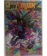 Ninjak #1 1994 Valiant Comics Wrap Around Gold Holochrome Cover - $391.99