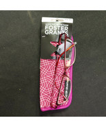Foster Grant Women's Fashion Reading Glasses w/ Case, +1.25, Leighton, Deep Red - $21.00