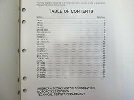 1990 Suzuki A.T.V. Motorcycle L Models Wiring Diagram Manual Factory OEM *** image 2