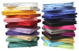1 PC Fitted Sheet 1200 TC 100%Egyptian Cotton Bedding All Sizes New Soli... - $42.59