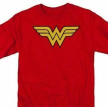 Wonder Woman Logo T-shirt DC comic book Batman superhero cotton tee DCO266 image 2