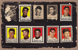 LOT OF 7: 1962 Topps stamps SF Giants on album page Willie Mays Marichal Kuenn - $19.95