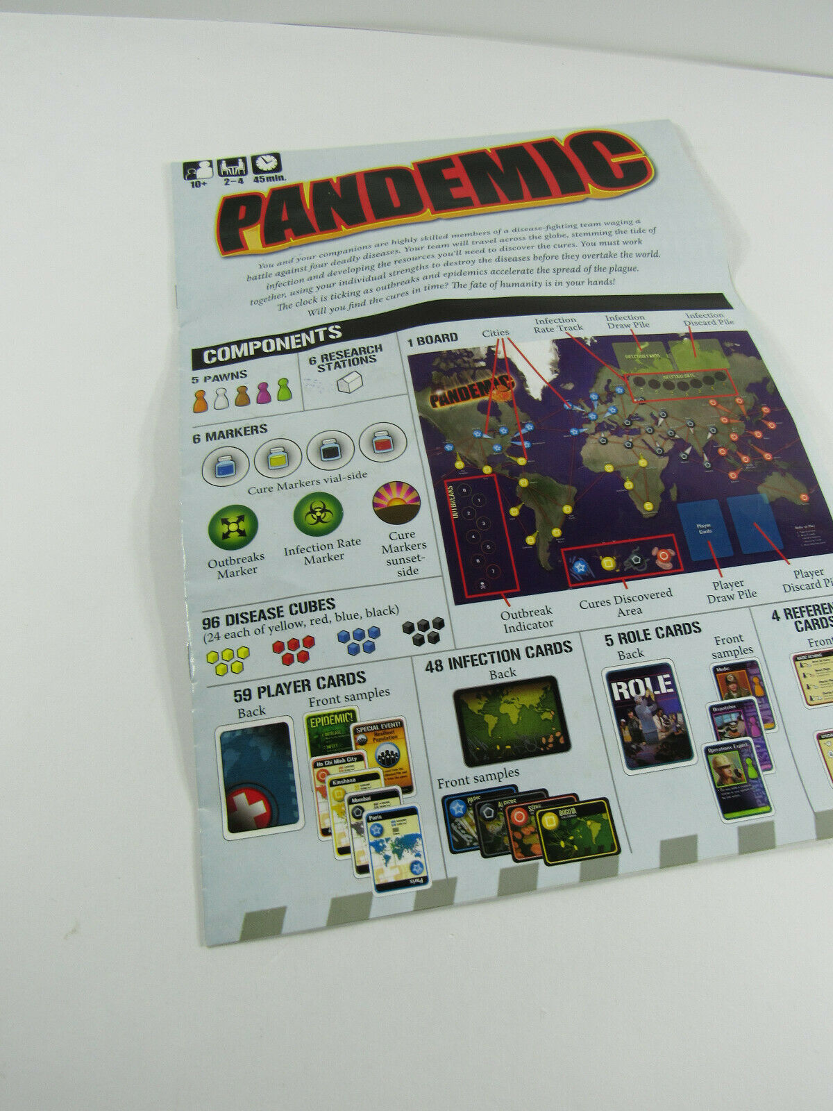 Primary image for Pandemic Board Game Instructions Manual Guide - panda zman games