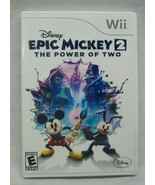 Walt Disney EPIC MICKEY 2: The Power of Two Nintendo Wii Video Game COMP... - $14.85