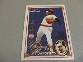 2001 Fleer Boston Red Sox 100th Luis Tiant YAWKEY'S HEROES - $3.12