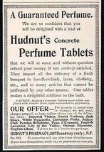 Hudnut's Concrete Perfume Tablets Not Wood Disc 1898 AD - $14.99