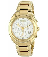 CITIZEN ECO-DRIVE FB1392-58A CELESTIAL GOLD STAINLESS STEEL CHRONO WOMEN... - $216.80