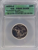 2004-S SILVER STATE QUARTER 25¢ MICHIGAN ICG PR69 DCAM - $22.05