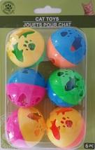 "Kitten Cat Kitty Toys Small 1.5"" Plastic Ball w Bell, 6 Toys/Pk - £2.09 GBP"