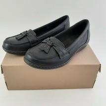 CLARKS Womens Ashland Bubble Slip-On Loafer- Black Sz 7M image 2