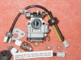 Carburetor Kit For TANAKA TBC-220 TPH-260PF 25CC LONG REACH POLE HEDGE T... - $12.83