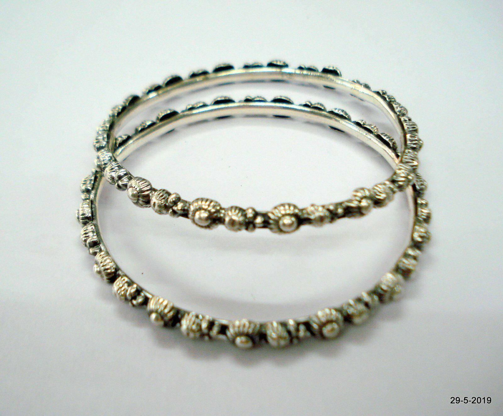 Sterling Silver Bangle Bracelet Chudiyan Traditional Handmade Jewellery