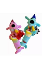 Multipet Loofa Dog Squeaker Birthday Toy 12 inch Blue (Sold Individually) - £5.94 GBP