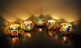 Lalhaveli Mosaic Glass Candle Holder Set 5 - $52.91