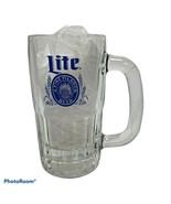 Miller Lite Mug A Fine Pilsner Beer 5: Glass Blue Graphics Vintage - $15.99