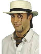 Straw Boater Hat - £5.74 GBP
