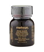Mehron Stage Blood Dark Venous with Brush 1 oz  - $7.15