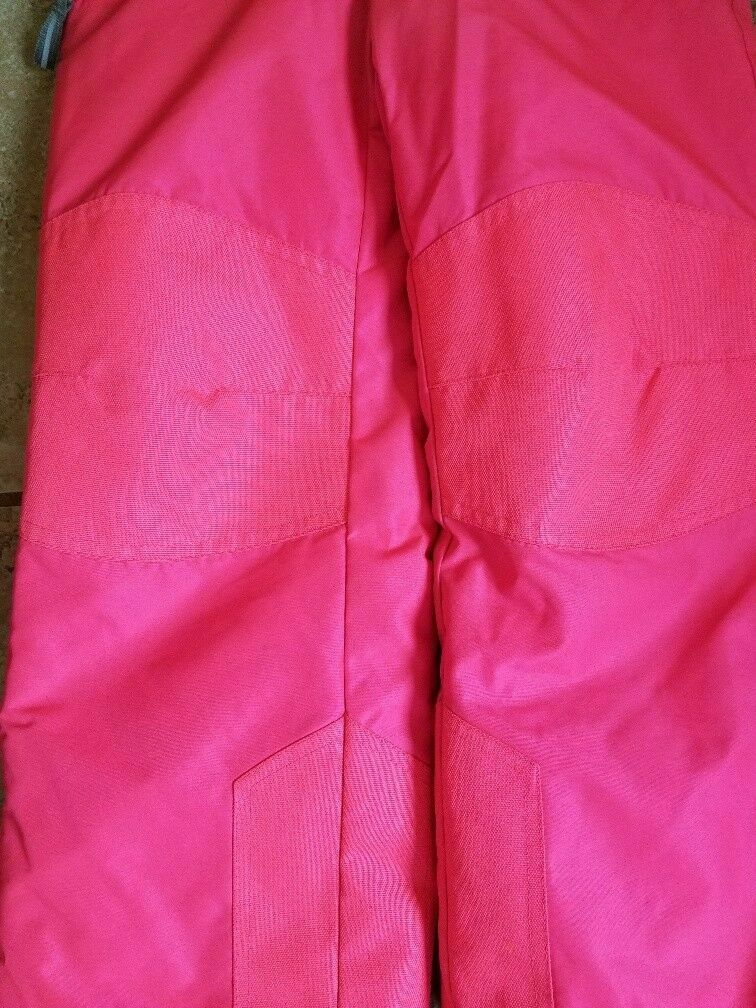 Champion Size Youth 5/6 Winter Snow Suit Bibs Neon Pink