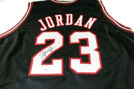 MICAHEL JORDAN / NBA HALL OF FAME / AUTOGRAPHED CHICAGO BULLS CUSTOM JERSEY COA image 1