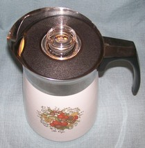 Vintage Corning SPICE OF LIFE Stove Top 6 Cup Coffee Pot / Percolator -P146 VGUC image 7